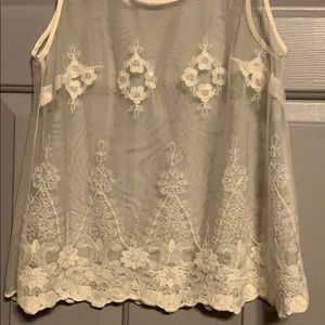 American Eagle Outfitters Tops - Sheer Lace Top
